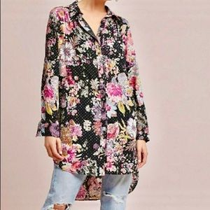 Maeve Anthropologie Autumnal Tunic Shirt. S